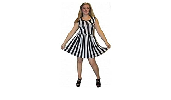 Schwarz Weiß Gestreiftes Kleid von Wahnsinn Kleidung  Amazon.de  Bekleidung 35a436daa1