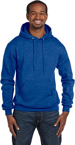 Champion Mens 50/50 EcoSmart Pullover Hood (S700) Royal Blue Heather