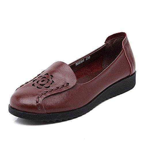 Chaussures de maman/Vent national dans la peau des personnes âgées/Chaussures femme/Chaussures plates C