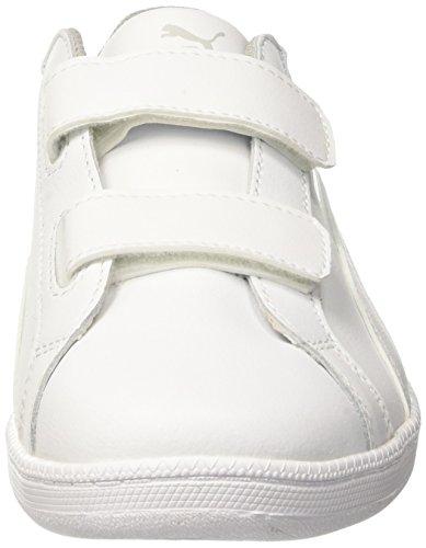 Puma Smash Fun L V Ps, Baskets Basses Mixte Enfant Blanc (White-white)