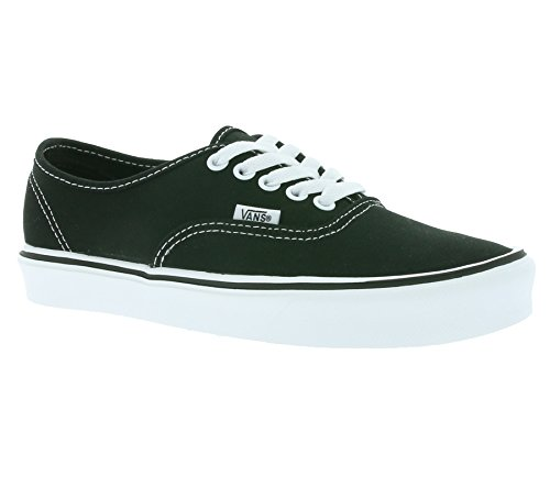 Vans Unisex-Erwachsene Authentic Lite Plus Sneaker Schwarz (canvas/black /white)