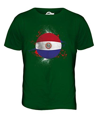 CandyMix Paraguay Calcio T-Shirt da Uomo Maglietta Verde bottiglia