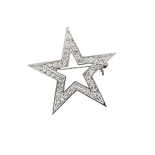 OULII Stern Form Brosche Frauen Dekorative Stilvolle Festzug Corsage Pentagramm Anzug Breastpin für Business Hochzeit 5 * 5 CM
