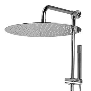 paulgurkes aufputz set mit 30 cm regendusche brausegarnitur duschsystem nachr sten. Black Bedroom Furniture Sets. Home Design Ideas