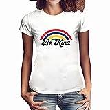 Damen Kurzarm T-Shirt Beiläufig Farbverlauf Shirt Sommer Lose Shirt Tees