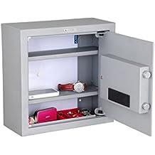 Arregui Intact - Caja fuerte camuflada electrónica, para fondo de armario (acero, 350 x 350 x 150 mm) color plata