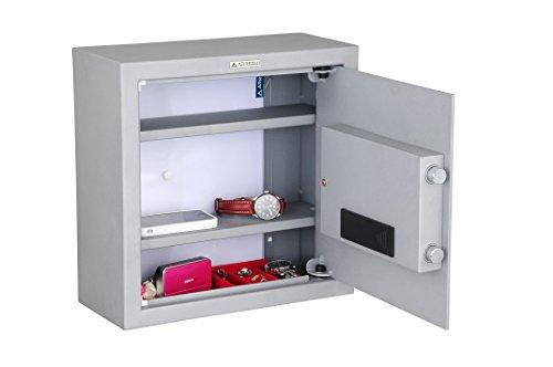 Arregui Intact - Caja fuerte camuflada electrónica, para fondo de armario (acero, 350 x 350 x 150 mm) color