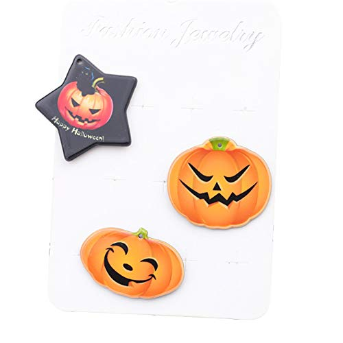 Cosanter 3 Stücken Halloween Broschen Pins Kürbiskopf Grafiken Stil 3 Geeignet für Kinder und Junge und Mädchen