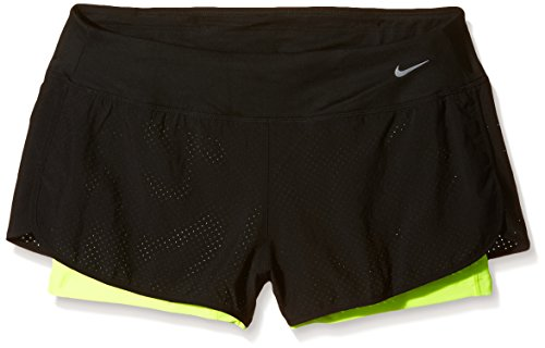 NIKE NIKE jambe robe Ted Rival 2 en 1 Short pour femme, Mixte, Beinkleid Perforated Rival 2 In 1 Shorts Women noir