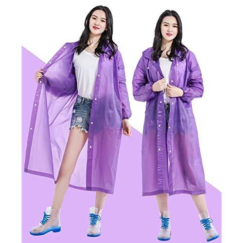 NMDCDH Regenfeste Windjacke/Winddicht/Eva transparenter Mantel für Damen und Herren (Farbe: Lila)