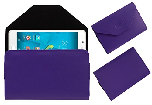 Acm Premium Flip Flap Pouch Case For Micromax Canvas Unite 4 Q427 Mobile Leather Cover Magnetic Closure Purple  available at amazon for Rs.179