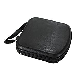 Arpoador Portable disc storage box hard disk box CD DVD VCD box (black)