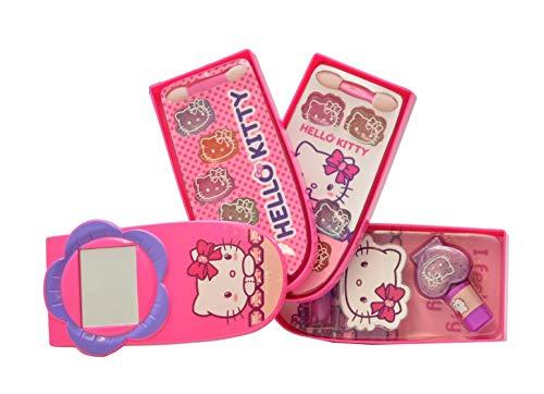 Falca Rock Kosmetik-Set mit 3 Fächern Hello Kitty, Mehrfarbig, M-42858 - Hello Kitty Kosmetik-set
