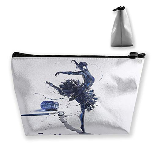 Trapez Reise Make-up Taschen Kulturbeutel Tragbare Stiftetui Fall Modern Dance Painting Cosmetic Bags (Caboodles Große Make-up Fall)