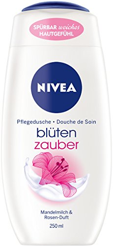 NIVEA Blütenzauber Pflegedusche im 6er Pack (6 x 250 ml), seidiges Duschgel mit Mandelmilch und feinem Rosen-Duft, pflegende und sanft reinigende Duschcreme für ein weiches Hautgefühl