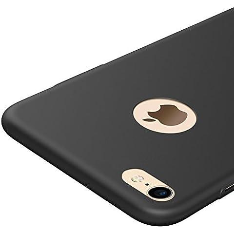 Negro Ultra-delgado Funda Case Cover y Protector de Pantalla Para Apple iPhone 7 Vooway® MS70191