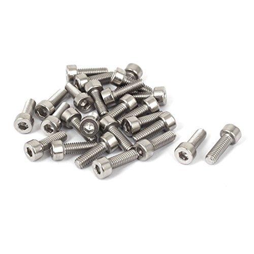 DealMux a16051600ux0383 zócalo Tornillo M4x12mm acero inoxidable 316 de dado hexagonal tornillos...