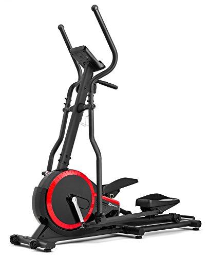Crosstrainer HS-070C Buzz schwarz/rot von Hop-Sport Ellipsentrainer mit Pulsmessung 18kg Schwungmasse Belastbarkeit bis 150kg