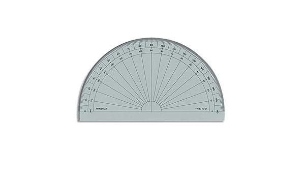 16 cm Goniometro semicircolare in altuglas Minerva 1169//15D
