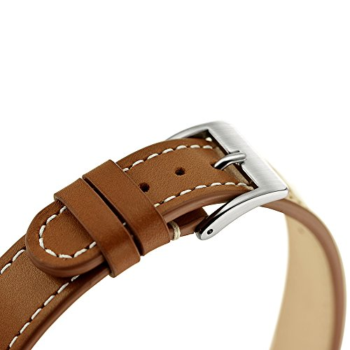 VICARA 18 mm Withings Watch Band Cuoio cinturino da polso di ricambio e attività sport Band braccialetto regolabile per Withings Orologio Withings Activité, Activité Pop Activité Steel