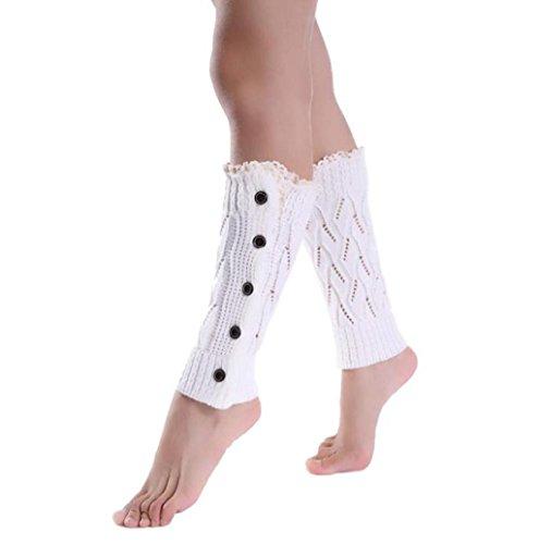 Rosennie Mädchen Kurz Socken Bein Wärmer Stiefel Abdeckung (Weiß)