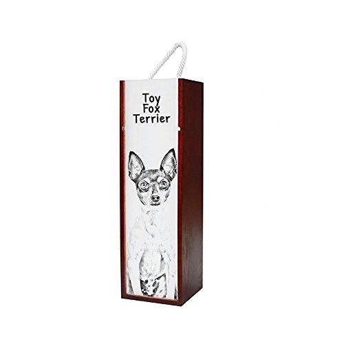 ArtDog Ltd. Toy Fox Terrier, Holz Weinkiste mit Einem Bild eines Hundes -