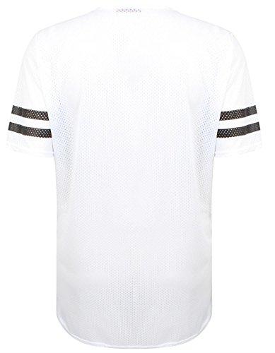 Chocolate Pickle ® Damen Air Tech Uni-Baseball-Druck Baggy T-Shirts 36-54 76 Brooklyn White