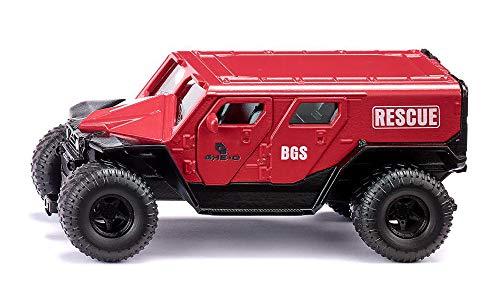 SIKU 2307, GHE-O Rescue Rettungswagen, 1:50, Metall/Kunststoff, Rot, Viele Funktionen, Kombinierbar mit SIKU Modellen im gleichen Maßstab