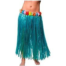 6546a104de Falda Hawaiana Adulto Hula Azul (80 cm)