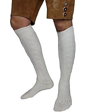 MS-Trachten Trachtenstrümpfe Trachtensocken Kniebundstrümpfe grau meliert