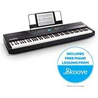 Alesis Recital Pro | Digital Piano / Electronic Keyboard with 88 Hammer Action Keys, 12 Premium Voices, Two 20 W Built-in Speakers, Headphone Output & 3-Months of Skoove Premium Online Piano Lessons