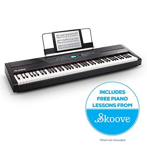 Alesis Recital Pro - Piano Digital con 88 Teclas de Acción Martillo,...
