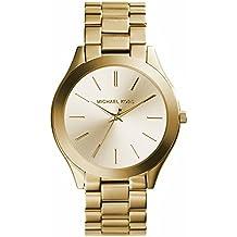 Michael Kors MK3179 - Reloj de cuarzo con correa de acero inoxidable para mujer, color dorado