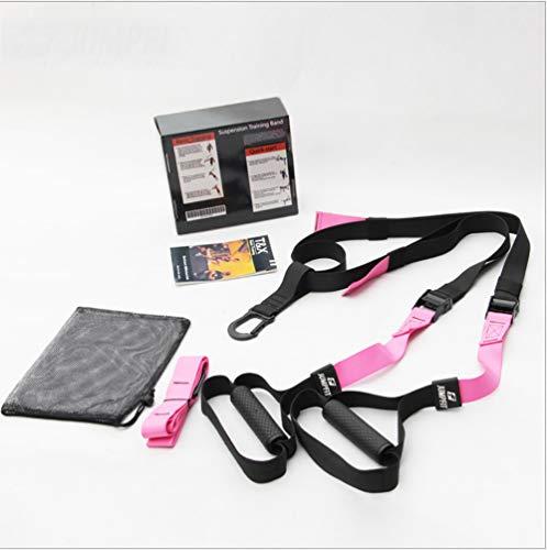 ZLQF Training – Suspension Trainer-Kit, Perfekt geeignet für unterwegs und für das Training im Innen- und Außenbereich,Pink,Professionalversion