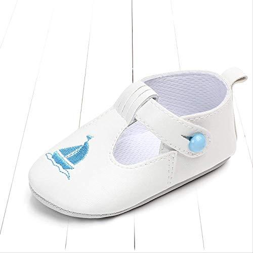 GUHUA 0-1-Jährige Babyschuhe, rutschfeste Kleinkindschuhe Mit Weichem Boden, Kleine Lederschuhe Im Britischen Stil, Prinzessinschuhe