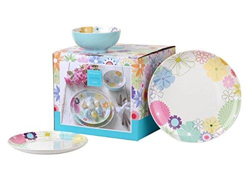 Portmeirion Crazy Daisy Abendessen Set, Mehrfarbig, 12-teilig Porcelain Side Plate