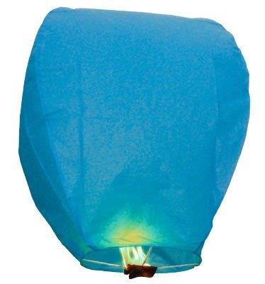 50 Lanternes volantes blue Sky Lantern