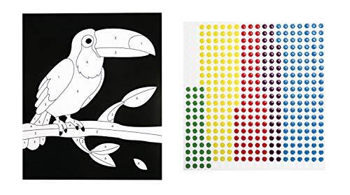 MegaCrea DIY Tableau Sticker au numéro avec Sticker epoxy Perro