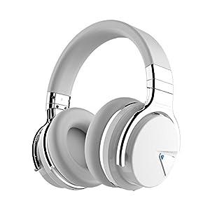 COWIN E7 Active Noise Cancelling Kopfhörer Bluetooth-Kopfhörer mit Mikrofon Tiefe Bässe Drahtlose Kopfhörer über dem Ohr, bequeme Eiweiß-Ohrpolster, 30 Std. Spielzeit für Reise-Work-TV PC-Mobiltelefon