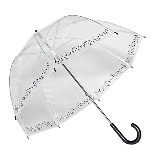 Clear Printed Bubble Umbrella - Symphony
