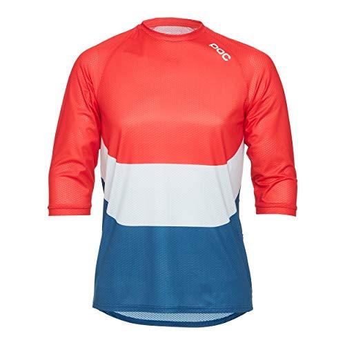 POC Herren Essential Enduro 3/4 Light Jersey, Prismane Multi Red, MED