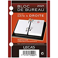 LECAS - 1 Bloc Ephémérides de Bureau Date à Droite - Janvier à Décembre 2021-8,5 x 11,5 cm