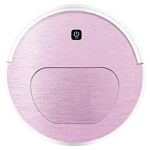 CN&Q Saugroboter, saugstark, ohne Verwicklungen, schlankes Design, geeignet für Harte Böden und Teppiche,Pink