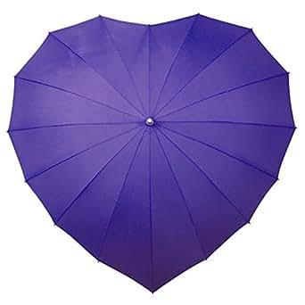 Parapluie parapluie en forme de coeur violet