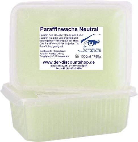 Paraffinwachs PARFÜMFREI'Neutral' im Set - 2x 1000ml/750g - 1,5kg zum nachfüllen