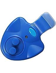 TOOGOO(R) Pesca mordedura de alarma Indicador de Bell LED impermeable con cana + Baterias Nightlight - Azul