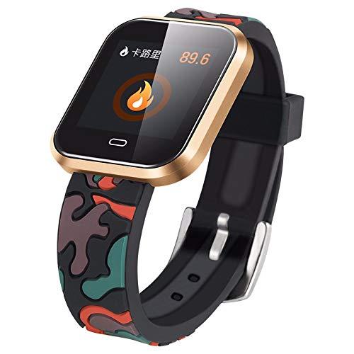 LRWEY Fitness Armband mit Pulsmesser, 1,3 Zoll großer OLED-Bildschirm Wasserdichtes IP67-Herzfrequenz-Aktivitäts-Schrittzähler-Kalorien-Smart-Armband für iOS Android Handy