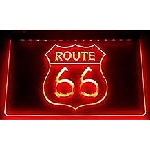 Route 66 – cartel luminoso LED Nuevo – Rótulo carga ...