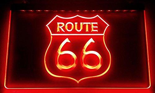 Route 66-cartel luminoso LED Nuevo-Rótulo carga Reklame Neon Neon (Estados Unidos
