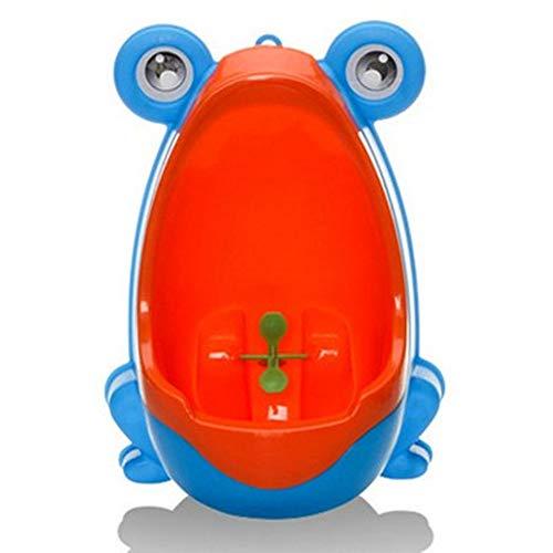 QIANGUANG Froschkinder Töpfchen Toilette Ausbildung Kind Urinal zum Junge Pinkeln Trainer Bad (Blau)